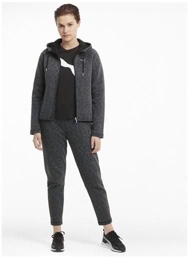 Puma Puma Kadın Gri Düz Fermuarlı Kapüşonlu Sweatshirt Gri